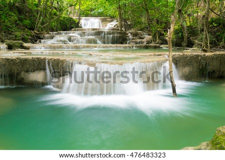 The beautiful and smooth waterfall in Thailand mountain, taking this image by long exposure for smooth the water flow.
