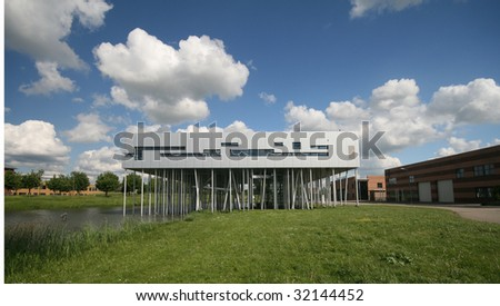 The beautiful and very innovative Center of Information made of Aluminum in Houten, The Netherlands