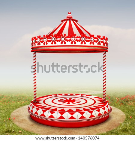 The beautiful Background with Circus Stage or Carousel for your Art - stock photo