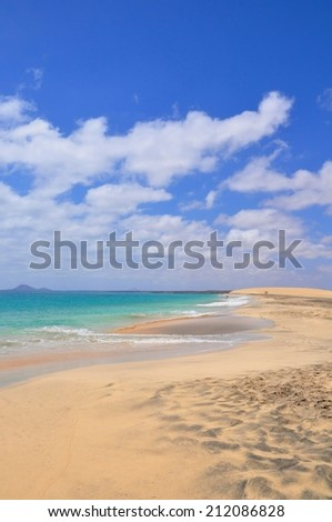 the beautiful beach of SAL in cape verde, near Santa Maria
