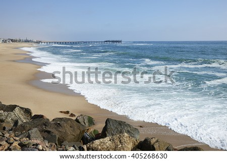 The beautiful beach of Swakopmund, Namibia, Africa.
