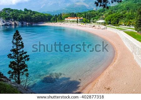 The beautiful beaches of Montenegro - stock photo