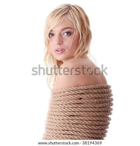 Blonde bound girl