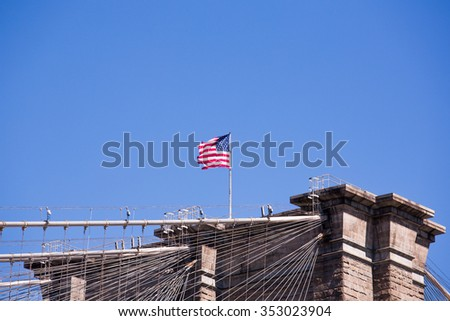 The beautiful city of new York. The Statue Of Liberty. - stock photo