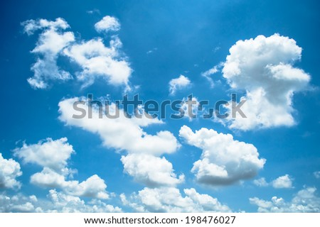 The beautiful cloud and the blue sky