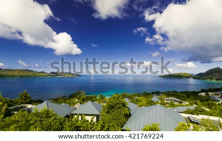 The beautiful island of Praslin, Seychelles - stock photo