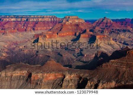 The Beautiful Landscape of Grand Canyon National Park, Arizona - stock photo