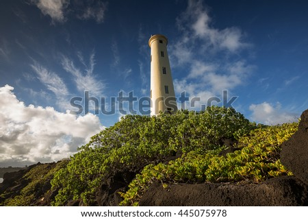 The beautiful lighthouse at Lihu'e on the island of Kauai, Hawaii