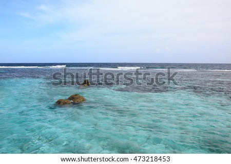 The beautiful Maldivian sea