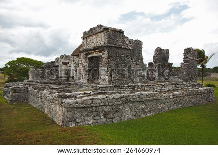 The beautiful Mayan ruins in Tulum, Mexico