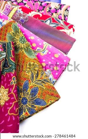 The beautiful of art Malaysian and Indonesian Batik Pattern - stock photo
