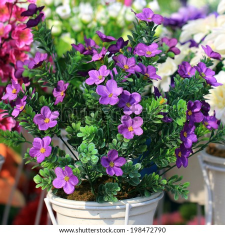 the beautiful purple decoration artificial flower