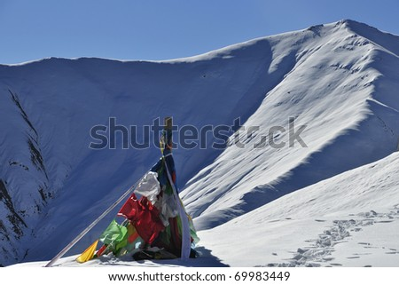 the beautiful scenery of snow mountain