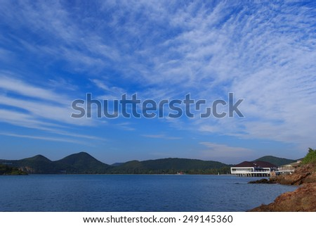 The beautiful sea view of Ao Toei Ngam sattahip, Thailand. - stock photo