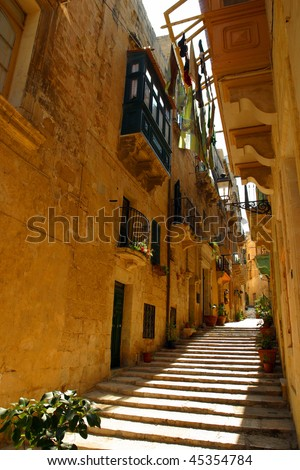 The beautiful streets of Malta.