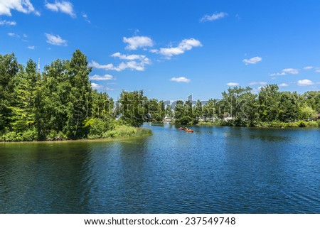 The beautiful Toronto Islands (Formerly Island of Hiawatha or Menecing). The islands are a popular recreational destination. Toronto, Ontario, Canada. - stock photo