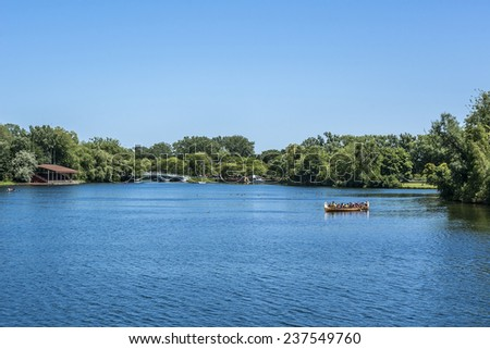The beautiful Toronto Islands (Formerly Island of Hiawatha or Menecing). The islands are a popular recreational destination. Toronto, Ontario, Canada.