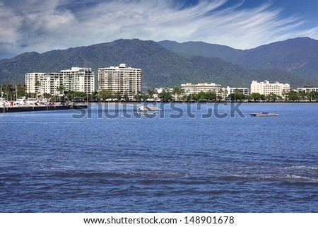 The beautiful tourist  city of Cairns in Queensland Australia - stock photo