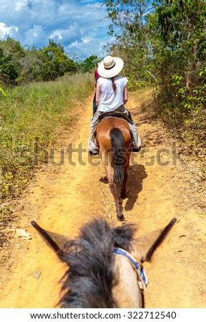 The beautiful Vinales valley in the north of Cuba - stock photo