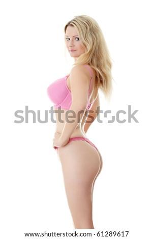 The beautiful woman body in beautiful female lingerie - stock photo
