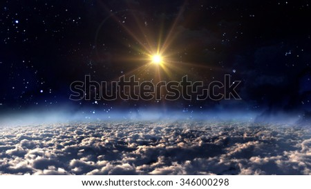 the beauty night sky with star background - Elements of this Image Furnished by NASA