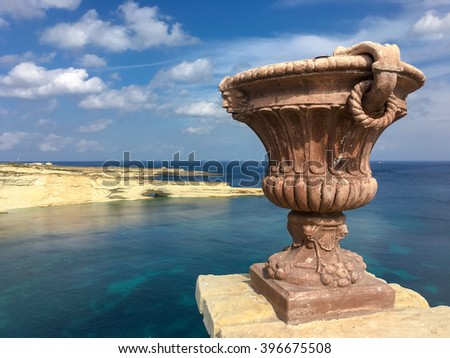 The beauty of Delimara, in the south of Malta. - stock photo