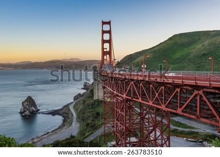 The Beauty of Golden Gate Bridge during sunset