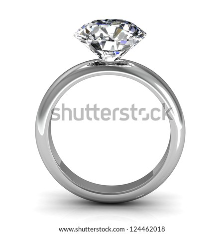 The beauty wedding ring - stock photo