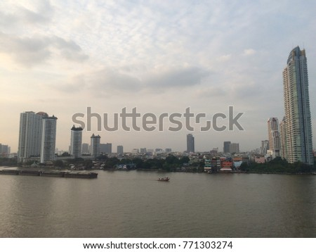 The beautyful view dohwntown in  Bangkok Thailand