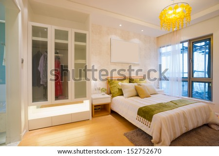 the bedroom with modern style - stock photo