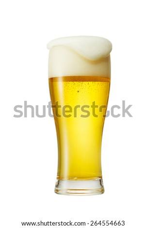 the beer isolated on white