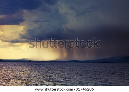 the beginning of the storm photo - stock photo