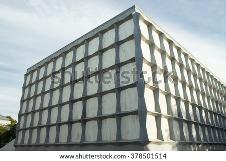 The Beinecke Rare Book and Manuscript Library at Yale University - stock photo