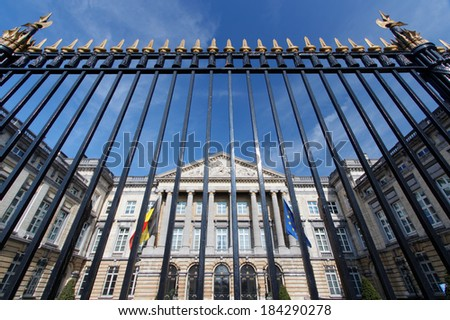 The Belgian Federal Parliament in Brussels - stock photo