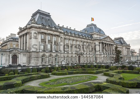 The Belgian Royal palace in Brussels, in neo-classic style.