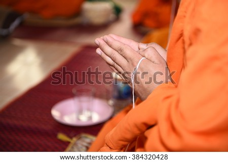 The belief in the Buddha - stock photo