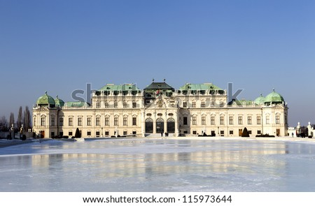 The Belvedere palace in Vienna - stock photo