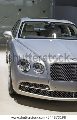 The 2015 Bentley Flying spur luxury car at The North American International Auto Show January 13, 2015 in Detroit, Michigan. - stock photo
