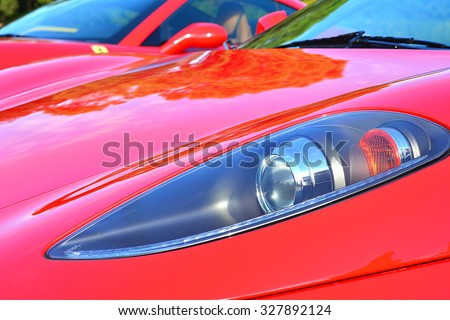 The best famous car in the word, Ferrari. - stock photo