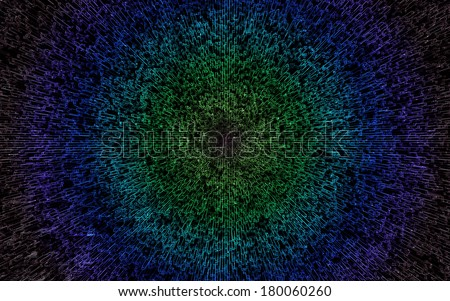 The big bang or the all foreseeing eye - stock photo