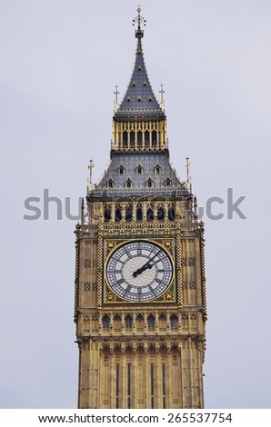The Big Ben clock tower in London