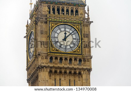 The Big Ben, Houses of Parliament, London, UK - stock photo