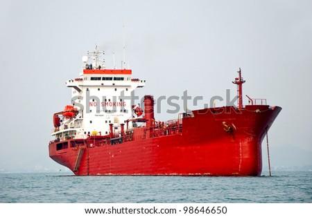 The Big boat of oil tanker - stock photo