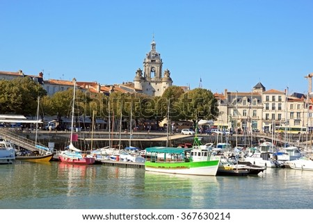 The Big Clock of La Rochelle, a view of the sea (Charente Maritime France)  La Rochelle and the Big Clock, views of the Atlantic Ocean (France)
