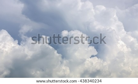 The big fluffy cloud on sky - stock photo