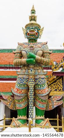 The big gaint at Wat Prakaw, Bangkok, Thailand. - stock photo