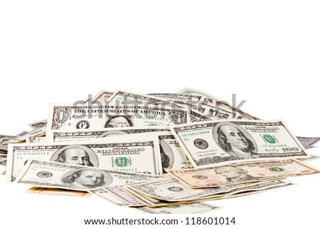 The big heap of money - stock photo