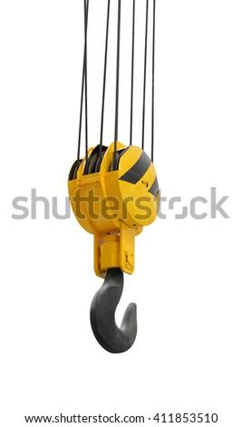 The big lifting hook isolated on white background - stock photo