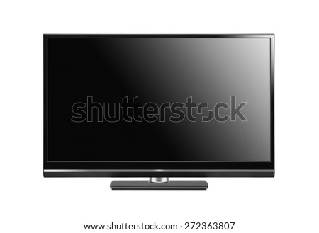 The big monitor of black colour