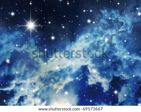 The big starry congestion on night the sky - stock photo